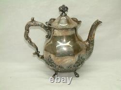 VINTAGE SILVER CITY SILVERPLATE 4 PIECE COFFEE TEA SET Meriden CT BEAUTIFUL