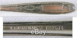 Vtg 1921 Oneida Community Plate 94 Piece Flatware Set In Gosvenor Pattern, More