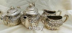 Victorian Repousse 4 Piece Tea/coffee Set By Simpson Hall Miller