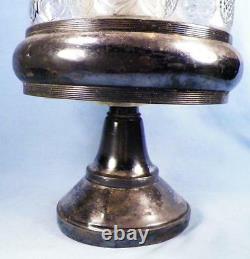 Victorian Silver Plate Castor Set 6 Varied Glass Cruets Antique James Tufts 2930