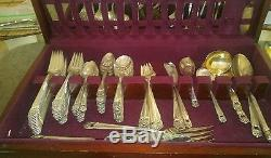 Vinage Flatware set with Wood Case1847 Rogers Bros Eternally Yours