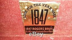 Vintage 1847 Rogers Bros Remembrance Flatware Silverware 62 Pc Set W case