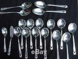 Vintage 1847 Rogers Bros Silverplate Flatware Eternally Yours 78 pcs set for 12