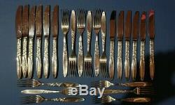 Vintage 6 Setting Grosvenor Christine Silver Plate Flatware Set 36 Pieces Vgc