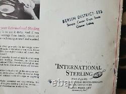 Vintage Chest Silverware Set WM Rogers Son Victorian Rose INTERNATIONAL STERLING