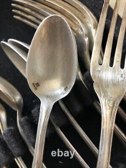 Vintage Christofle France Silverplate Flatware Serving Set Of 12