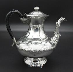 Vintage Embossed Marlboro 4 Piece Tea And Coffee Set Sugar Creamer Silver Plate