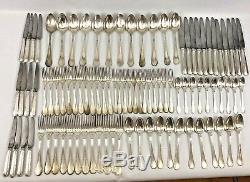 Vintage Ercuis Trianon Silverplated Flatware 94 Piece Set