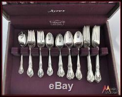 Vintage Estate Set Gorham Essex Silverplate Flatware Service 12 in Chest 65 Pcs