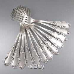 Vintage French Silver Plate Flatware Set for Twelve, 36 pcs, Louis XV Style 1930