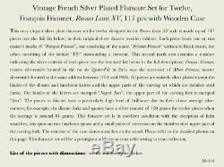 Vintage French Silver Plated Flatware Set for Twelve, François Frionnet, 117 pcs