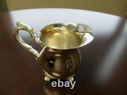 Vintage Gorham Chantilly Silver Plated 4 Pc Tea Set