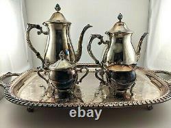 Vintage LEONARD 5 piece SilverPlated Coffee & Tea Set # 5004