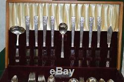 Vintage National Silver Company Inauguration 93 Piece Flatware Set
