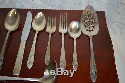 Vintage Oneida Community Queen Bess II 61 Piece Tudor Plate Flatware Set