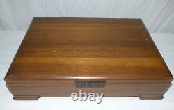 Vintage Oneida Nobility Caprice 81 Pc Silver Plate Flatware Set for 12 Art Deco