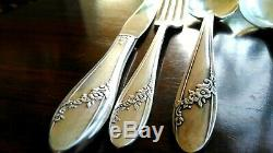 Vintage Oneida Silverplate flatware set with Wood Box Royal Queen Bess