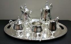 Vintage Reed & Barton Jamestown Silverplate 6pc Coffee Tea Set No Monogram