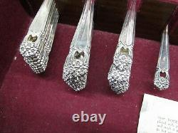 Vintage Rogers Bros I. S. Eternally Yours 64pc Silver Plated Flatware Set C2594