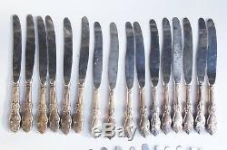 Vintage Set of 60 Soviet Russian MNC Silver Plated FORKS SPOONS KNIVES