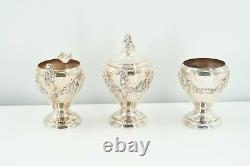 Vintage Silver-plated & Copper, 6 Piece Coffee & Tea Set with Tray Set