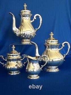 Vintage Silverplate Coffee Tea Service Set Marked HKE
