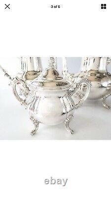 Vintage Towle silver plate coffee, tea, sugar and creamer server set