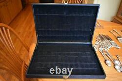 Vintage Wm Rogers & Son Enchanted Rose Silverplate Flatware Set-50 Piece