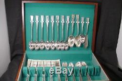 Vintage Yourex Silverplate Flatware Silverware Set Lady Helen with Box 51 PIECES