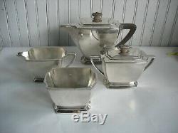 Vtg 4 pc ROGERS BROTHERS Legacy Silverplate ART DECO Tea Service Set c1929
