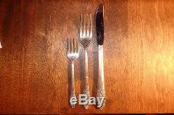 Vtg Oneida Community EVENING STAR 1950 Silver Plate Flatware Set/Service for 8