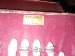 Vtg. Wm. Rogers Silverware-50pc. Set In Original Case-triumph Pattern