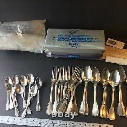 WWii French Stamped Silverware Set With A. Vedel Stamped Knives. Rare Find