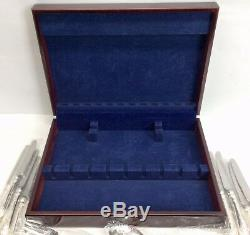 Wallace ADAM Silver Plate (71pc) Service for 12 Silverware Flatware Set + Chest