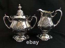 Wallace Christopher Wren Silver Plate Tea Service Set Coffee Teapot 5 Pc