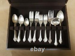 Wallace Silverplate Flatware French Regent 50 Piece Set With Box Service for 10