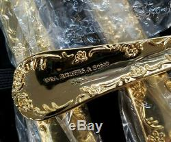Wb 24k Gold Plated Rogers Flatware Silverware Set 50 Piece Set Table Service