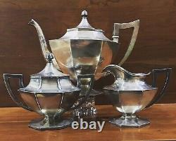 Wilcox Vintage Silver Plate TEA SET 1951 Tea Set Of 3 No Monogram