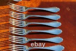 Wonderful Christofle Pompadour Silver Plated Flatware 24 Pcs Set in 6 Settings